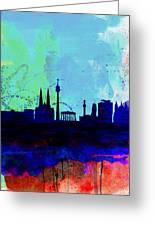Vienna Watercolor Skyline Greeting Card