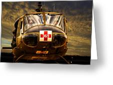 Vietnam Era Medivac 369 Helicopter Greeting Card