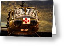 Vietnam Era Medivac 369 Helicopter Greeting Card