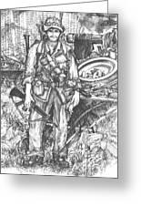 Vietnam Soldier Greeting Card