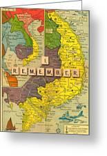 Vietnam War Map Greeting Card