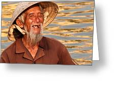 Vietnamese Boatman 02 Greeting Card