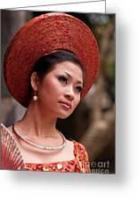 Vietnamese Bride 09 Greeting Card
