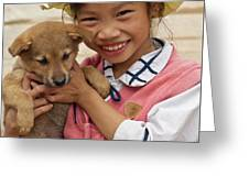Vietnamese Girl 02 Greeting Card