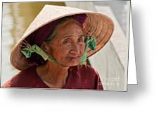 Vietnamese Lady Greeting Card