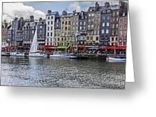 Vieux Bassin Of Honfleur Greeting Card