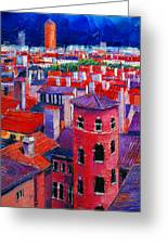 Vieux Lyon Rooftops  Greeting Card