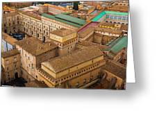 View Above Downtown Of Rome Greeting Card