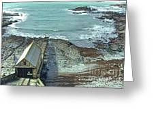 View Across Polpeor Cove Greeting Card