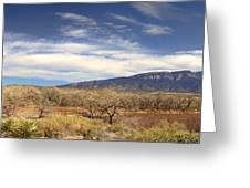 View Across The Rio Grande River Huge Panorama Greeting Card