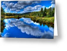 View At The Green Bridge - Old Forge New York Greeting Card