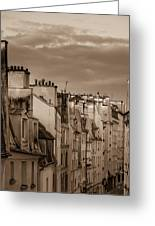 View Down Rue Beauregard Greeting Card