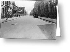 View East On 78th Street Greeting Card