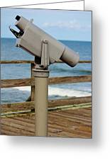 View Finder At The Beach Greeting Card