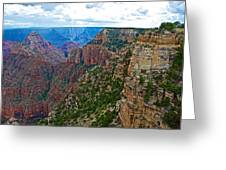 View Five From Walhalla Overlook On North Rim Of Grand Canyon-arizona Greeting Card