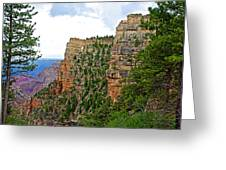 View Four From Walhalla Overlook On North Rim Of Grand Canyon-arizona Greeting Card