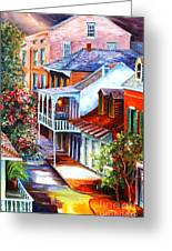 View From A Bourbon Street Balcony Greeting Card