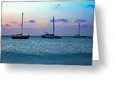View From A Catamaran3 - Aruba Greeting Card
