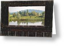 View From A Hide Impressions Greeting Card