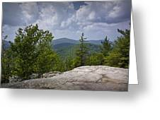 View From A Mountain In A Vermont Greeting Card