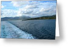 View From A Scottish Ferry Greeting Card