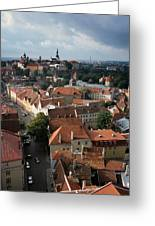 View From Above Of Old Town Tallinn  Estonia Greeting Card