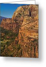 View From Angel's Landing 2 Greeting Card
