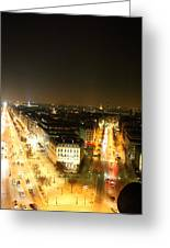 View From Arc De Triomphe - Paris France - 01138 Greeting Card by DC Photographer