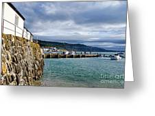 View From Back Beach - Lyme Regis Greeting Card
