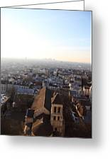 View From Basilica Of The Sacred Heart Of Paris - Sacre Coeur - Paris France - 011318 Greeting Card