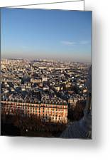 View From Basilica Of The Sacred Heart Of Paris - Sacre Coeur - Paris France - 011330 Greeting Card by DC Photographer