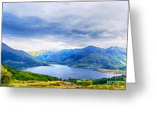 View From Bealach Ratagan To The Five Sisters Of Kintail Greeting Card