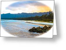 View From Bellows At Kaneohe Greeting Card