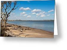 View From Big Talbot Island Beach Greeting Card