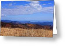 View From Black Balsam Knob Greeting Card