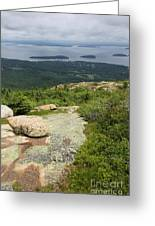 View From Cadillac Mountain - Acadia Park Greeting Card