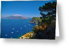 View From Capri Greeting Card