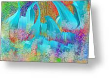 View From Central Park Abstract Painting Greeting Card