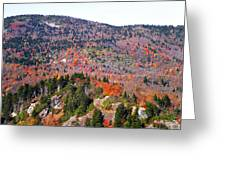 View From Devil's Courthouse 3 Greeting Card