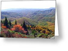View From Devil's Courthouse Mountain Greeting Card