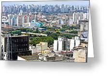View From Edificio Martinelli 2 - Sao Paulo Greeting Card