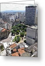 View From Edificio Martinelli 3 - Sao Pulo Greeting Card