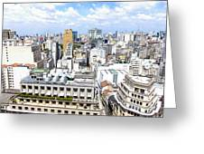 View From Edificio Martinelli - Sao Paulo Greeting Card