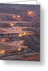 View From Grandview Point Canyonlands Greeting Card