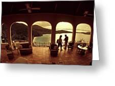 View From Hawks Nest Villa In Virgin Islands Greeting Card