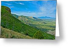View From Knife Edge Road Overlooking Montezuma Valley In Mesa Verde National Park-colorado   Greeting Card