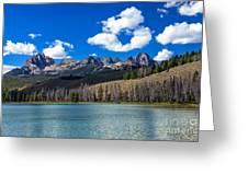 View From Little Redfish Lake Greeting Card