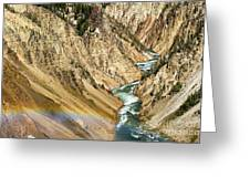 View From Lower Falls Of The Yellowstone River  Greeting Card