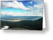 View From Martial Glacier, Ushuaia Greeting Card