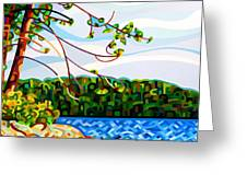 View From Mazengah Greeting Card